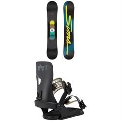 Sims Bowl Squad - Black Snowboard + Rome Crux SE Snowboard Bindings 2021