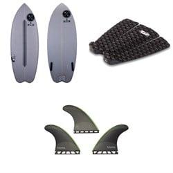 Hyperlite Frother Wakesurf Board 2021 + Dakine Andy Irons Pro Traction Pad + Futures JJF-2 Medium Techflex Tri Fin Set