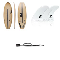 Solid Surf Co Lunch Break Surfboard + Futures F4 Thermotech Tri Fin Set + Dakine Kainui Team 6' Leash