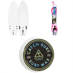 Catch Surf Blank Series 6'0 Fish - Tri Fin Surfboard + Catch Surf Beater 6' Leash + Catch Surf Surf Wax