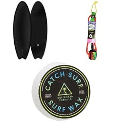 Catch Surf Blank Series 5'6 Fish - Tri Fin Surfboard + Catch Surf Beater 6' Leash + Catch Surf Surf Wax