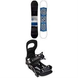 GNU GWO BTX Snowboard + Bent Metal Bolt Snowboard Bindings 2022