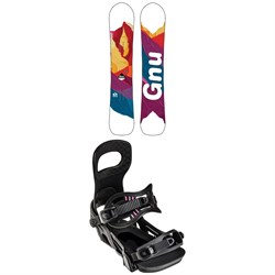 GNU Chromatic BTX Snowboard + Bent Metal Metta Snowboard Bindings - Women's 2022