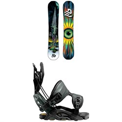 Lib Tech T.Rice Pro HP C2 Snowboard + Flow Fuse-GT Fusion Snowboard Bindings