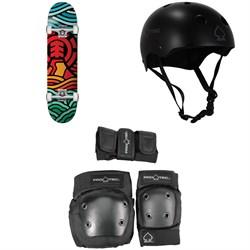 Element Volcanic 7.75 Skateboard Complete + Pro-Tec Classic Skate Skateboard Helmet + Pro-Tec Street Gear Junior Skateboard Pads 3-Pack - Big Kids'