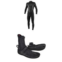 O'Neill 4/3+ Psycho Tech Back Zip Wetsuit + 3/2 Psycho Tech Split Toe Wetsuit Boots
