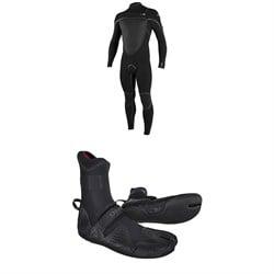 O'Neill 4/3+ Psycho Tech Chest Zip Wetsuit + 3/2 Psycho Tech Split Toe Wetsuit Boots