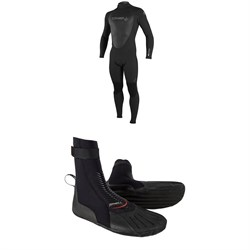 O'Neill 4/3 Epic Back Zip Wetsuit + 3mm Heat RT Boots