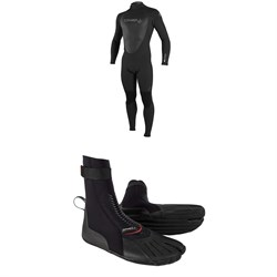O'Neill 4/3 Epic Back Zip Wetsuit + 3mm Heat ST Boots