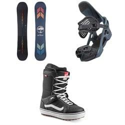 Arbor Formula Camber Snowboard + Spruce Snowboard Bindings + Vans Hi Standard OG Snowboard Boots 2022