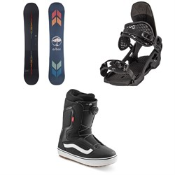 Arbor Formula Camber Snowboard + Spruce Snowboard Bindings + Vans Aura OG Snowboard Boots 2022