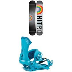 Nitro Optisym Snowboard 2022 + Nitro Team Snowboard Bindings 2022