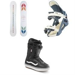 Arbor Poparazzi Camber Snowboard + Acacia Snowboard Bindings + Vans Encore OG Snowboard Boots - Women's 2022