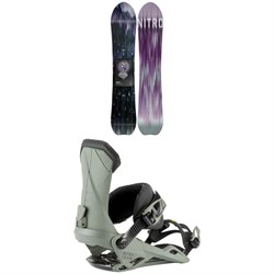 Nitro Dropout Snowboard 2022 + Nitro Team Snowboard Bindings 2022