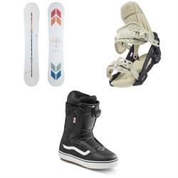 Arbor Poparazzi Rocker Snowboard + Acacia Snowboard Bindings + Vans Encore OG Snowboard Boots - Women's 2022