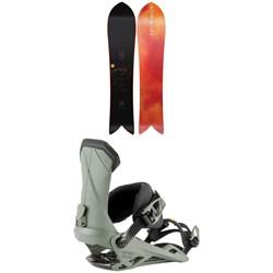Nitro The Quiver Fintwin Snowboard 2022 + Nitro Team Snowboard Bindings 2022