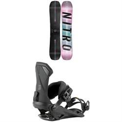 Nitro Optisym Drink Sexy Snowboard 2022 + Nitro Team Snowboard Bindings 2022