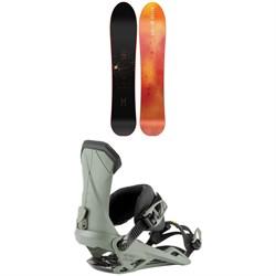 Nitro The Quiver Slash Snowboard 2022 + Nitro Team Snowboard Bindings 2022