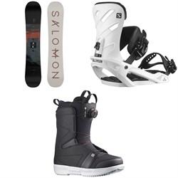 Salomon Pulse Snowboard + Rhythm Snowboard Bindings + Faction Boa Snowboard Boots 2022
