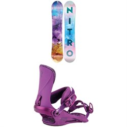 Nitro Lectra Snowboard - Women's 2022 + Nitro Cosmic Snowboard Bindings - Women's 2022