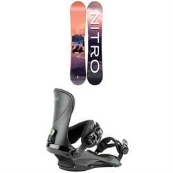 Nitro Mercy Snowboard - Women's 2022 + Nitro Cosmic Snowboard Bindings - Women's 2022