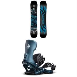 Jones Mountain Twin Snowboard 2022 + Jones Meteorite Snowboard Bindings 2022