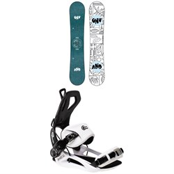 GNU Asym Velvet C2 Snowboard - Women's 2022 + GNU B-Real Snowboard Bindings - Women's 2022