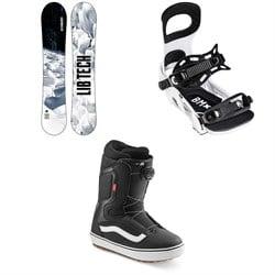 Lib Tech Cold Brew C2 Snowboard + Bent Metal Bolt Snowboard Bindings + Vans Aura OG Snowboard Boots 2022