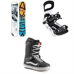 Lib Tech Box Scratcher BTX Snowboard + Bent Metal Bolt Snowboard Bindings + Vans Hi Standard OG Snowboard Boots 2022