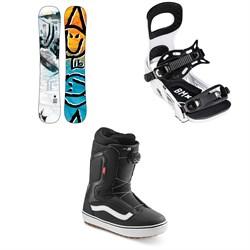 Lib Tech Box Scratcher BTX Snowboard + Bent Metal Bolt Snowboard Bindings + Vans Aura OG Snowboard Boots 2022