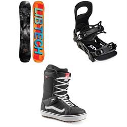 Lib Tech Box Knife C3 Snowboard + Bent Metal Bolt Snowboard Bindings + Vans Hi Standard OG Snowboard Boots 2022