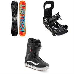 Lib Tech Box Knife C3 Snowboard + Bent Metal Bolt Snowboard Bindings + Vans Aura OG Snowboard Boots 2022
