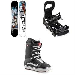 Lib Tech Skate Banana BTX Snowboard + Bent Metal Bolt Snowboard Bindings + Vans Hi Standard OG Snowboard Boots 2022