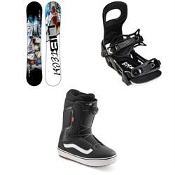 Lib Tech Skate Banana BTX Snowboard + Bent Metal Bolt Snowboard Bindings + Vans Aura OG Snowboard Boots 2022