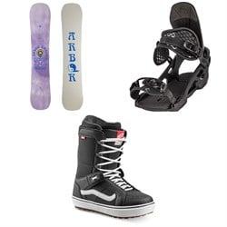 Arbor Draft Rocker Snowboard + Spruce Snowboard Bindings + Vans Hi Standard OG Snowboard Boots 2022