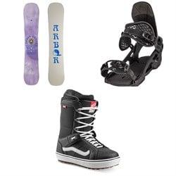 Arbor Draft Camber Snowboard + Spruce Snowboard Bindings + Vans Hi Standard OG Snowboard Boots 2022