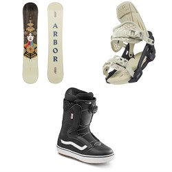 Arbor Cadence Camber Snowboard + Acacia Snowboard Bindings + Vans Encore OG Snowboard Boots - Women's 2022