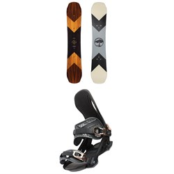 Arbor Wasteland Rocker Snowboard + Cypress Snowboard Bindings 2022