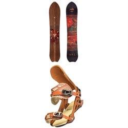 Arbor Clovis Camber Snowboard + Cypress Mark Carter Snowboard Bindings 2022