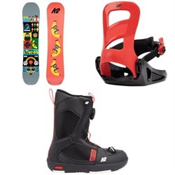 K2 Mini Turbo Snowboard + Mini Turbo Snowboard Bindings + Mini Turbo Snowboard Boots - Kids' 2022