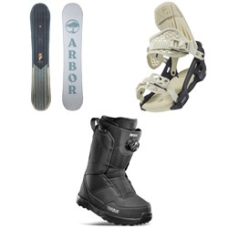 Arbor Ethos Snowboard + Acacia Snowboard Bindings + thirtytwo Shifty Boa Snowboard Boots - Women's 2022