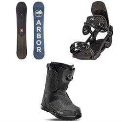 Arbor Foundation Snowboard + Spruce Snowboard Bindings + thirtytwo Shifty Boa Snowboard Boots 2022
