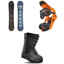 Arbor Foundation Snowboard + Spruce Snowboard Bindings + thirtytwo Shifty Snowboard Boots 2022