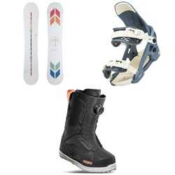 Arbor Poparazzi Rocker Snowboard + Acacia Snowboard Bindings + thirtytwo STW Boa Snowboard Boots - Women's 2022