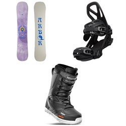 Arbor Draft Rocker Snowboard + Hemlock Snowboard Bindings + thirtytwo Light x Santa Cruz Snowboard Boots 2022