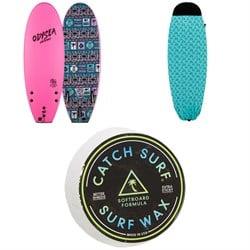 Catch Surf Odysea 5'0 Pro Stump Thruster - JOB Surfboard + 5ft Board Sock + Catch Surf Surf Wax