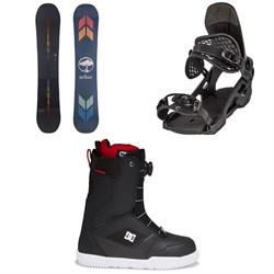 Arbor Formula Rocker Snowboard + Arbor Spruce Snowboard Bindings + DC Scout Boa Snowboard Boots 2022