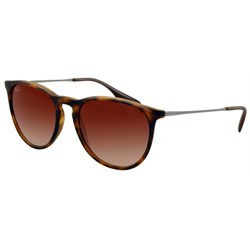 Womens Ray Ban Sunglasses  ray ban rb 4171 erika sunglasses women s rubberized havana brown gradient front