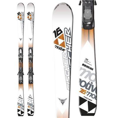 Fischer Motive 76 Powerrail Skis + RSX 12 Powerrail Bindings 2011