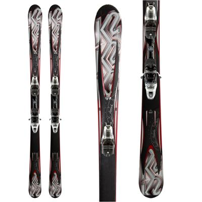 K2 A.M.P. Force Skis + M2 10.0 Bindings 2011